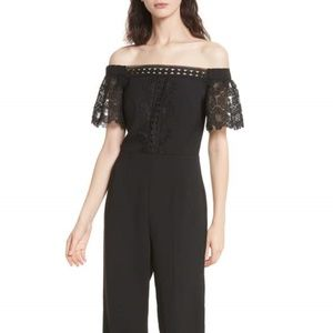 TED BAKER Geo Lace Jumpsuit!! NWT!! Size  2